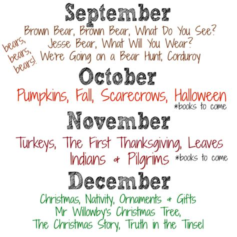 kindergarten themes by month monthly themes just b cause