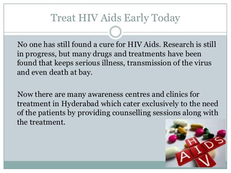 the cure is found against the hiv aids virus with a hiv treatment centers early treatment for longer life