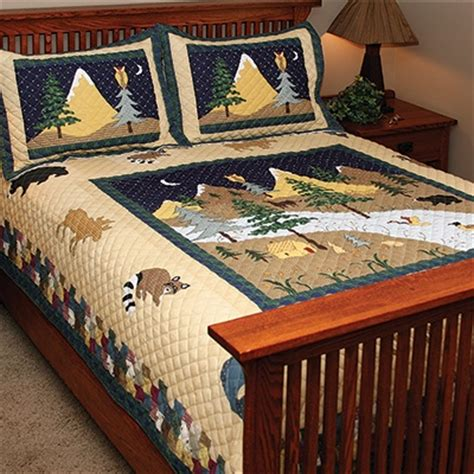 mountain bedding sets mountain scenic quilt bedding set shop nwf