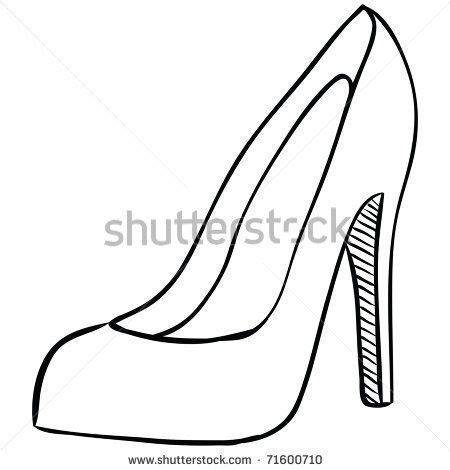 bottom heel place card template high heel shoe template printable high heel stock