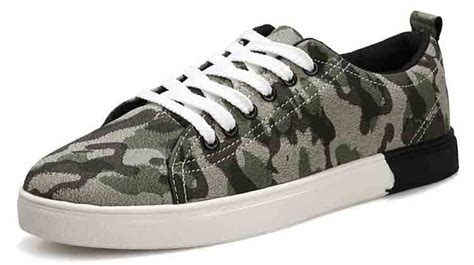 army pattern shoes army green casual canvas pattern lace up shoe free