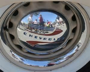 self portrait vintage chevrolet hubcap flickr photo