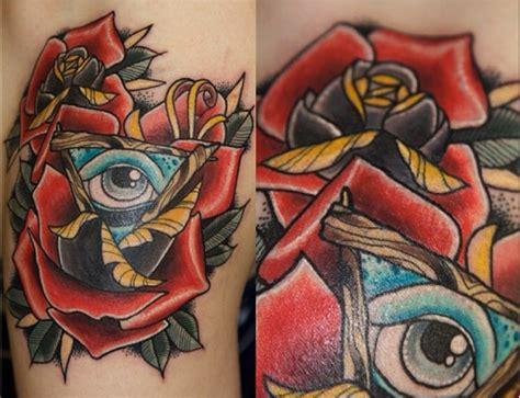 tattoo eye new school rose triangle eye old school tattoo by last angels tattoo