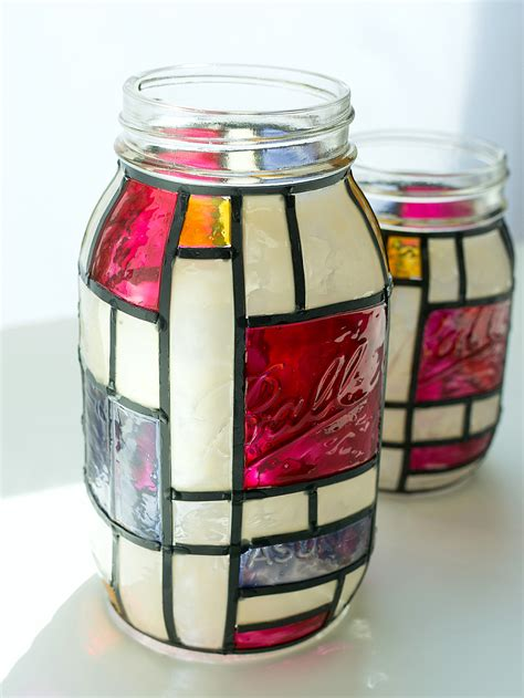 stained glass jar crafts kids