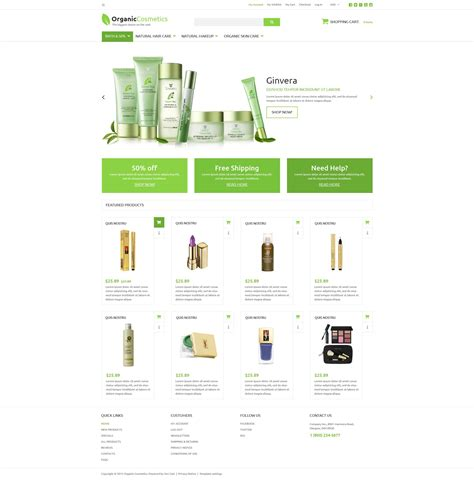 zencart templates cosmetics zen cart template