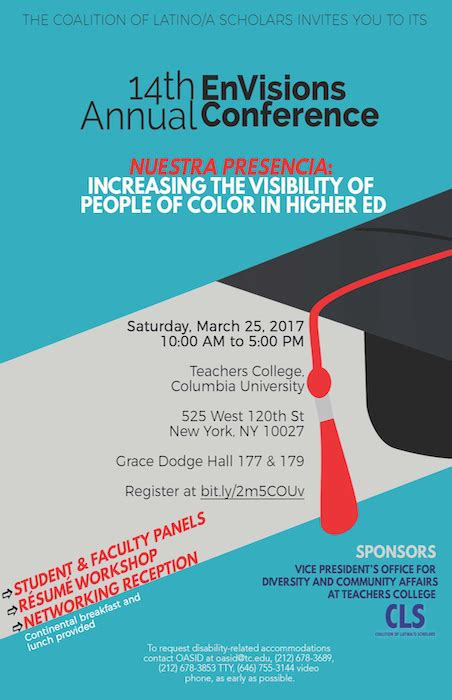 Columbia Mba Diversity Events by 14th Annual Envisions Conference Teachers College