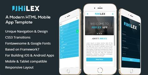 Download Free Jhilex Mobile App Html Template Agent Android App Business App Devic Mobile App Html Template Free
