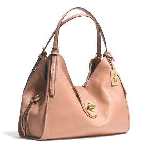 Shoulder Bag Coach coach carlyle shoulder bag in leather in pink lyst