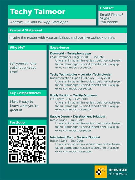 Resume Qr Code Revolutionizing The Resume The Design