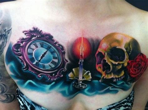 tattoo burning 70 stunning skull tattoos on chest