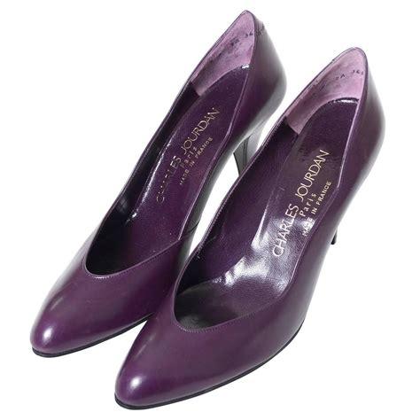charles jourdan shoes vintage charles jourdan vintage shoes purple leather heels