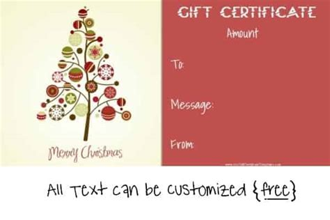 editable gift card template free editable gift certificate template 23 designs