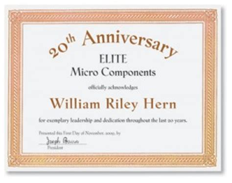 employee anniversary certificate template certificate of appreciation templates for any occasion