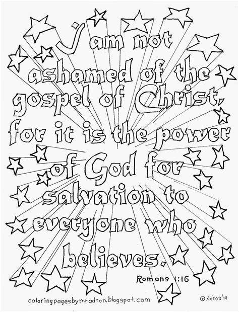 free printable scripture verse coloring pages romans coloring pages for kids by mr adron january 2014