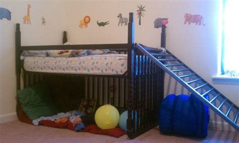 Converting A Crib To A Toddler Bed How To Convert A Crib Into Toddler Bed Turn A Crib Into A Loft Bed Turned My Sons Crib Into A