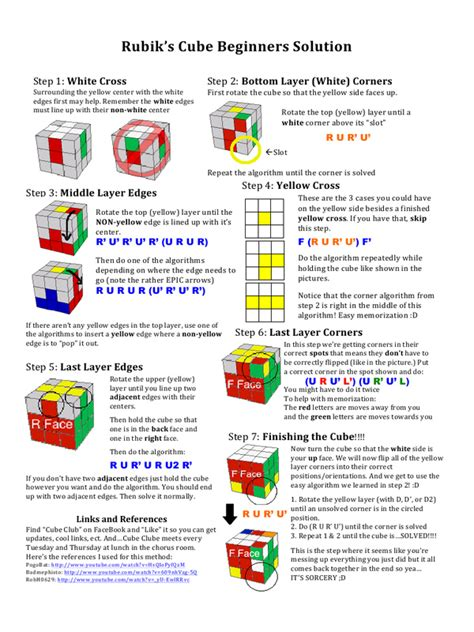 tutorial for rubik s cube beginners how to solve a rubik s cube for beginners step by step