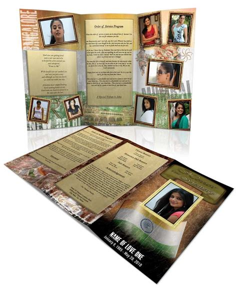 tri fold thank you card template 139 best images about funeral program templates thank