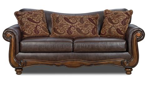 Leather Traditional Sofa Brown Bonded Leather Traditional Sofa Loveseat Set W Options