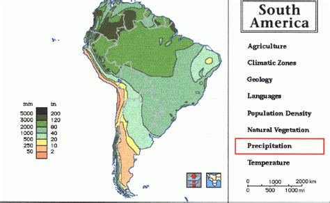 south america map andes topography of the andes