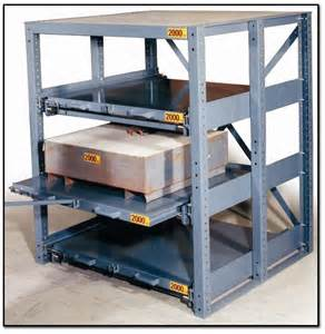 glide out shelving industrial pull out shelves pallet storage systems