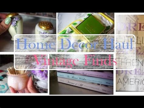 home decor haul tj maxx home goods vintage finds