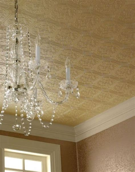 Tin Ceiling Wallpaper faux tin ceiling wallpaper dc house
