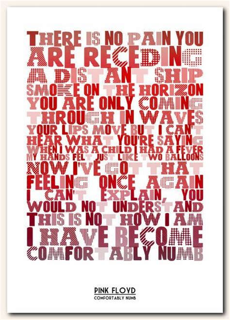 Lyrics Pink Floyd Comfortably Numb by 17 Best Images About Pink Floyd On Pink Floyd