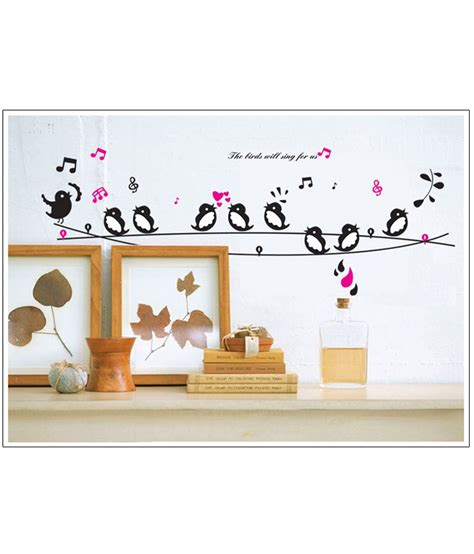 generic diy singing birds wall stickers vinyl decals