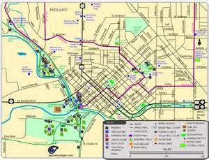 maps of parks trails attractions more in midland
