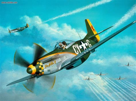 miscellaneous mustang with world war ii fighter planes