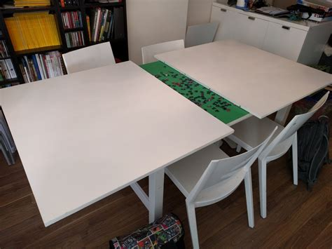 Ideas For Kitchen Decor norden concealed puzzle table ikea hackers