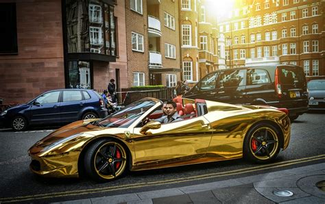 golden ferrari enzo 30 gold luxury cars hitsharenow