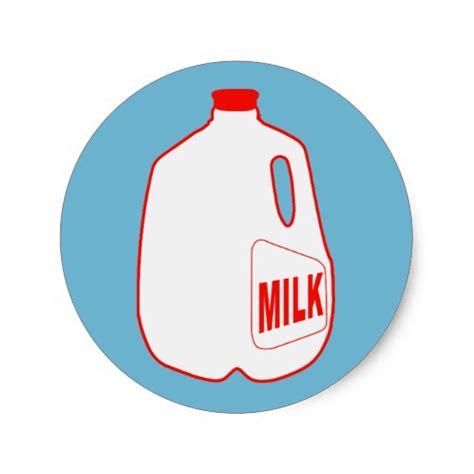 design milk sticker milk jug classic round sticker zazzle