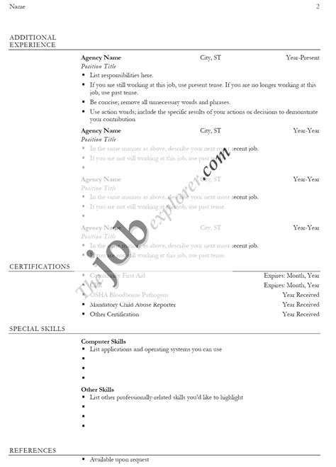biodata format sle for job biodata format all type job perfect resume format