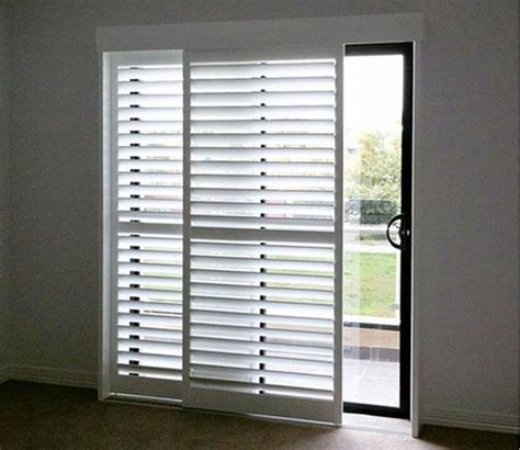 Plantation Shutters For Sliding Glass Doors Sliding Plantation Shutters Shuttershopshuttershop