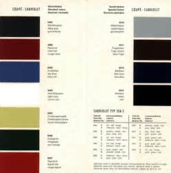 Porsche 356 Paint Codes Farbpaletten 356 Service