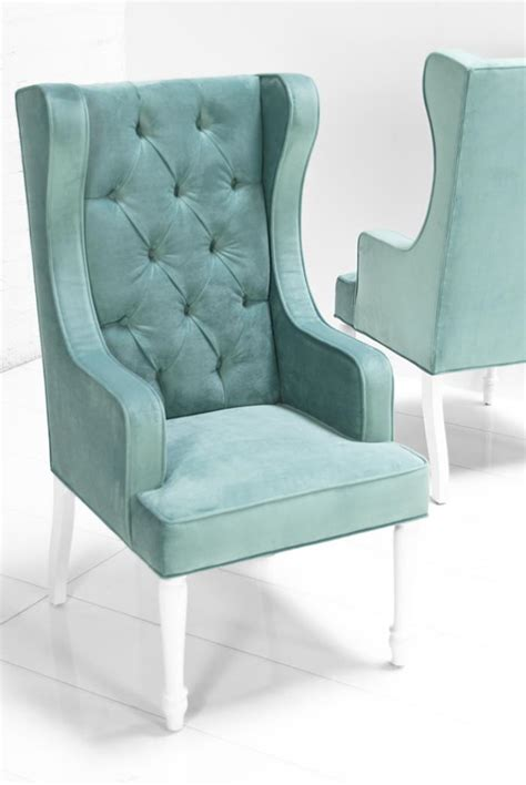 Dining Wing Chair Www Roomservicestore St Tropez Dining Wing Chair In Aqua Velvet