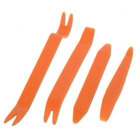Car Audio Prying Tool Instrument Panel Remove Frame Skid Plate Orange alat pengungkit peralatan audio mobil orange
