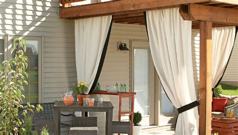 outside curtains for deck add a pretty privacy curtain