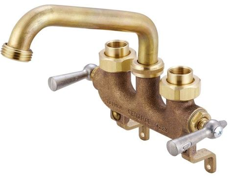 Slop Sink Faucets by Central Brass 2 Handle Laundry Faucet In Brass