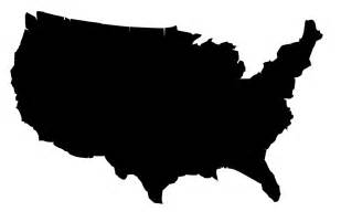 black and white united states map clipart best