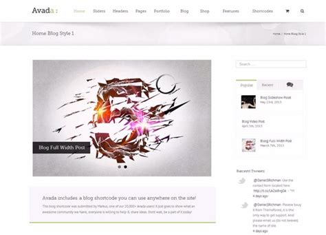 avada theme blog exles avada wordpress theme lovely templates