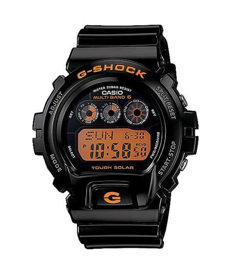 G Shock Orange Black g shock gw6900b 1 solar atomic black orange zumiez