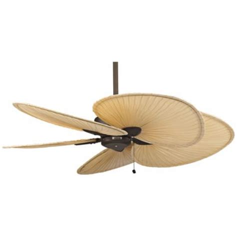 52 quot fanimation windpointe bronze and palm ceiling fan