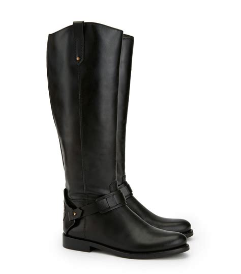 leather riding lyst tory burch derby leather riding boots in black