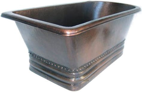 hammered copper bathtub hammered copper bathtub mexican soaking copper tub ebay