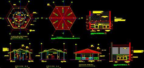 cafeteria  dwg design elevation  autocad designs cad
