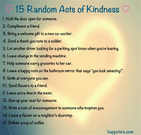 15 random acts of kindness that take less than 5 minutes