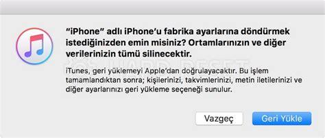 apple iphone 5s format atma fabrika ayarları sıfırlama reset