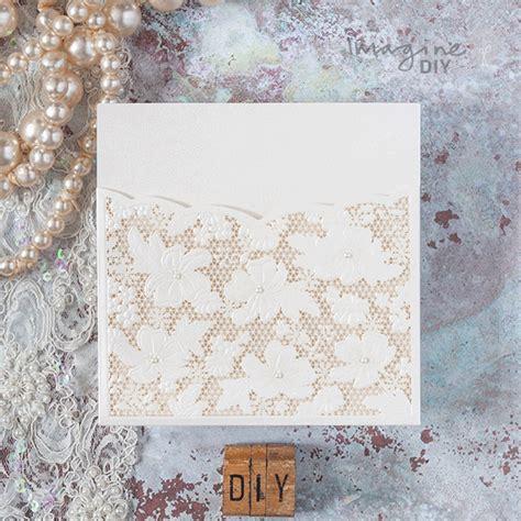 luxury lace laser cut pocket wedding invitation imagine diy
